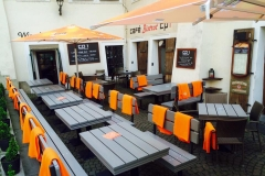 letní zahráda restaurace a vinného baru CP1 v Praze 1