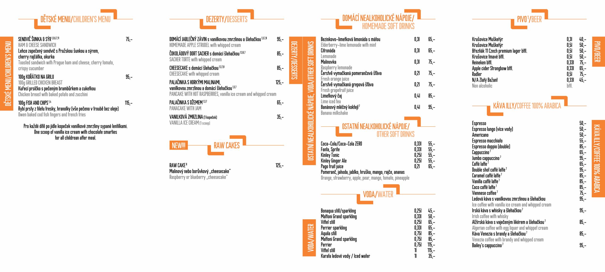 Menu - Jídelní lístek restaurace CP1 v Praze 1 - strana 3