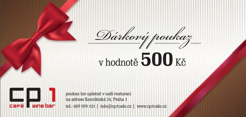 Ukázka dárkového poukazu do restaurace v Praze
