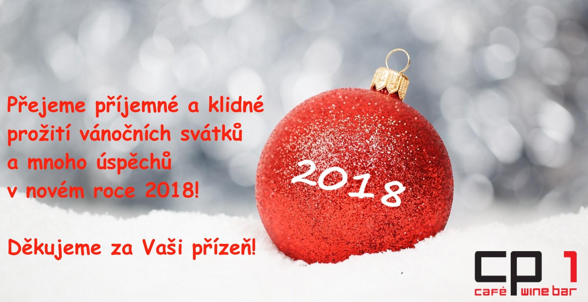 Vánoční přání do nového roku z CP1 Cafe & Wine Bar