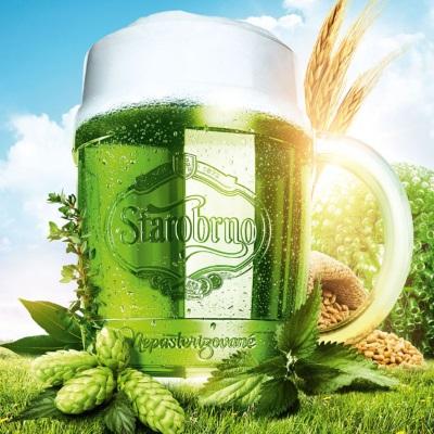 Zelene pivo na zelený čtvrtek v Praze 2018