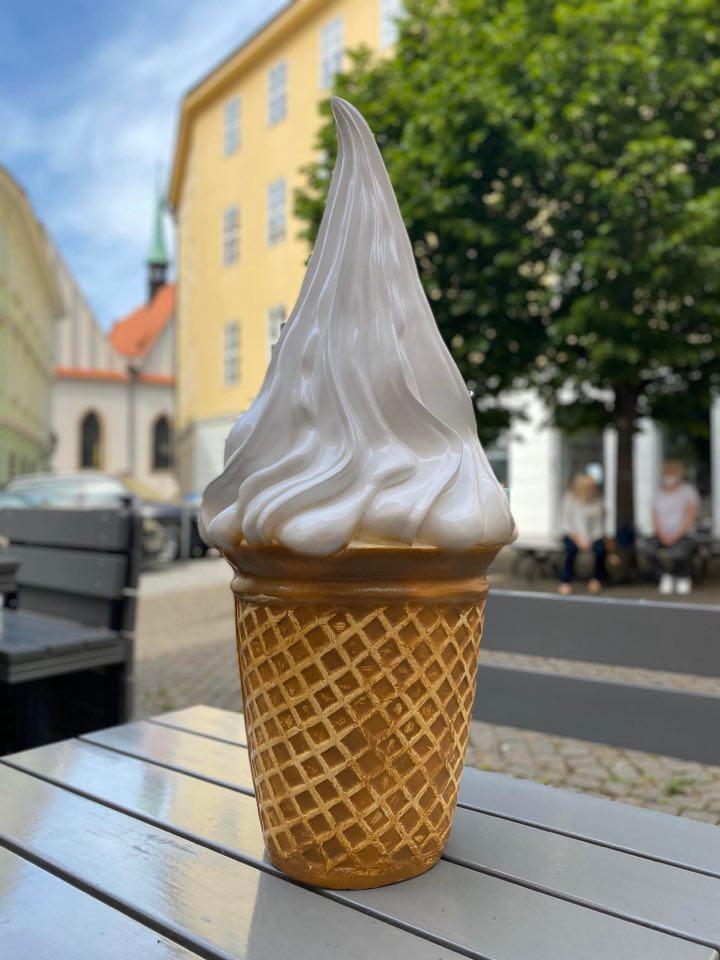 Točená zmrzlina v centru Prahy